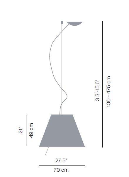 Luceplan Grande Costanza Pendelleuchte Dimmer Grafik