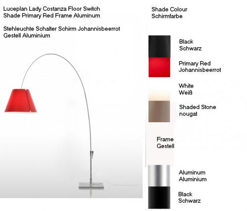 Luceplan Lady Costanza Stehleuchte Schalter Farben