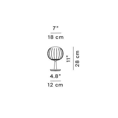 Luceplan Lita Table D92=18 Grafik