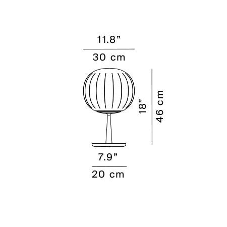 Luceplan Lita Tischleuchte D92=30 Grafik