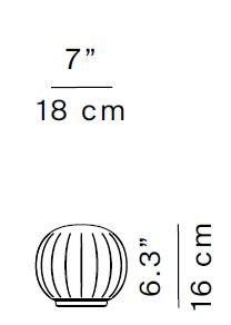 Luceplan Lita Tischleuchte D92V18 Grafik