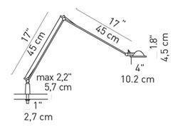 Luceplan Berenice Tavolo Befestigungsstift Grafik
