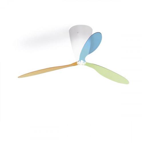 Luceplan Blow Farbmix (blau, grün und orange)