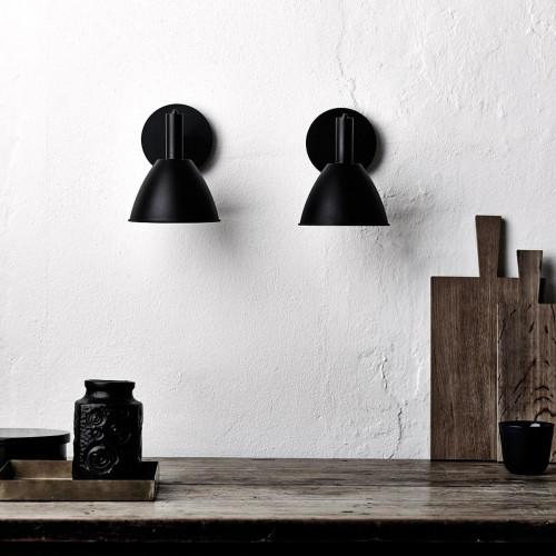 Lumini Mini Bauhaus 90 W1 LED ganz schwarz