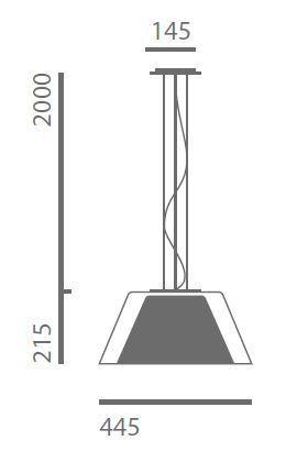 Lumini Theodora zentraler Baldachin Grafik