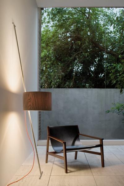 Lumini Lift Schirm Holz, Kabel rot