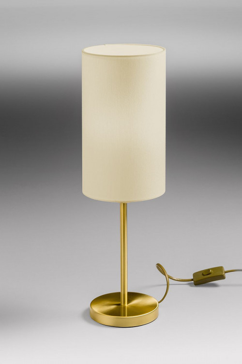 Lupia Licht Albergo Leuchtenstab Messing, Leuchtenschirm Champagner