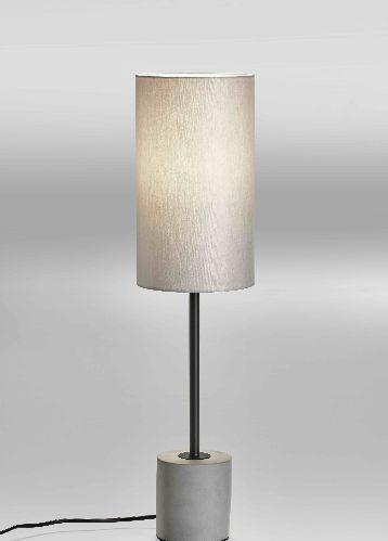 Lupia Licht Concrete T - Leuchtenstab schwarz Leuchtenschirm grau