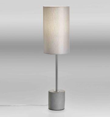 Lupia Licht Concrete T -  Leuchtenstab nickel Leuchtenschirm grau