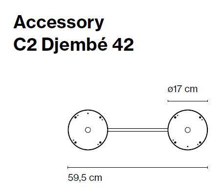 Marset Zubehör C2 Djembe 42 (ohne Leuchten)