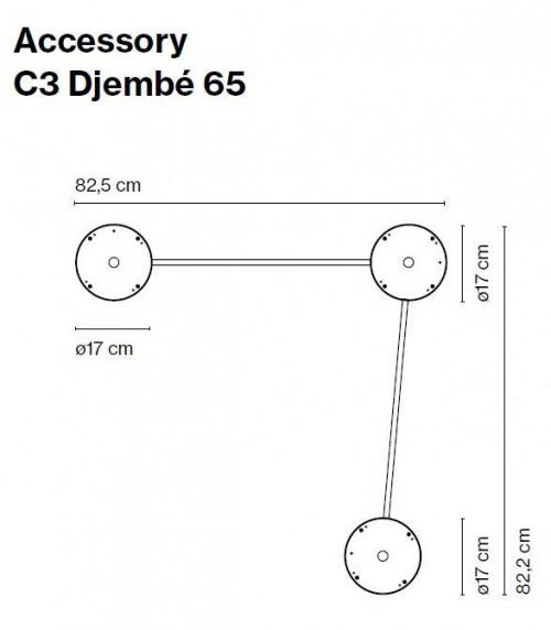Marset Zubehör C3 Djembe 65 (ohne Leuchten)