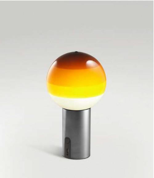 Marset Dipping Light Portable bernstein, Fuß graphit