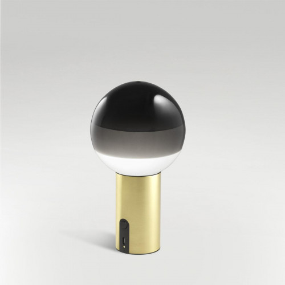 Marset Dipping Light Portable schwarz, Fuß Messing