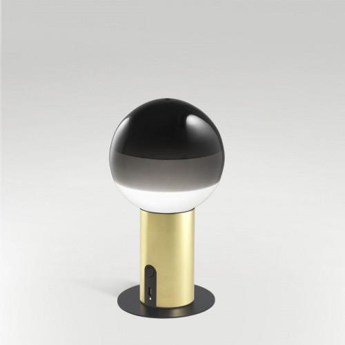 Marset Dipping Light Portable schwarz, Fuß Messing mit Zubehör Scheibe mit Magnet