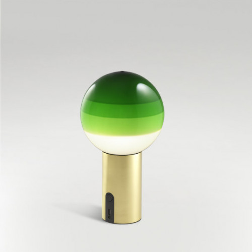 Marset Dipping Light Portable grün, Fuß Messing