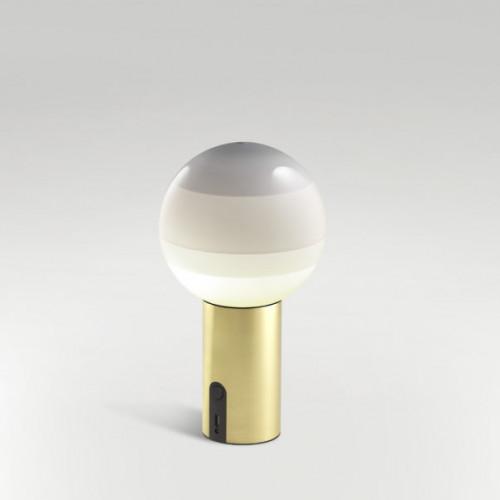 Marset Dipping Light Portable weiß, Fuß Messing