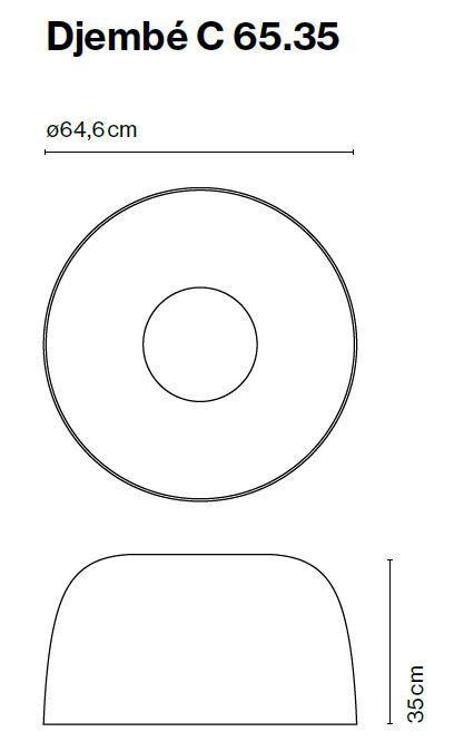 Marset Djembe C 65, Version 2 Grafik