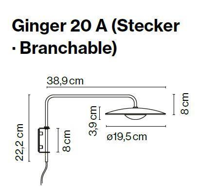 Marset Ginger 20 A mit Steckerzuleitung Grafik