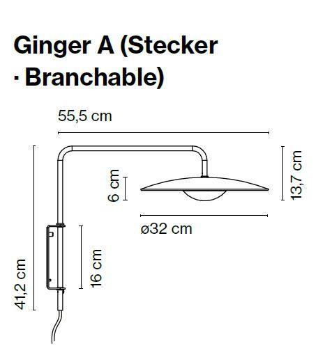 Marset Ginger A mit Steckerzuleitung Grafik