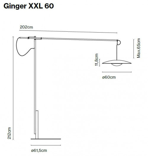 Marset Ginger XXL 60 Grafik