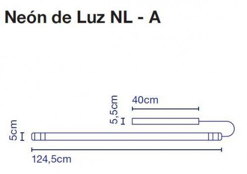 Marset Neon de Luz NL-A 155 cm Grafik