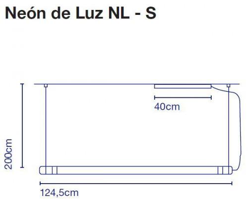 Marset Neon de Luz NL-S 125 cm Grafik
