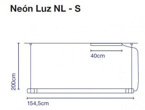 Marset Neon de Luz NL-S 155 cm Grafik