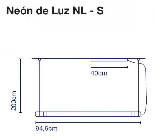 Marset Neon de Luz NL-S 95 cm Grafik