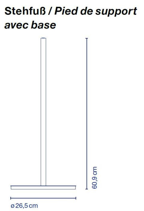Marset Polo Floor Leuchtenstab und -fuß Grafik