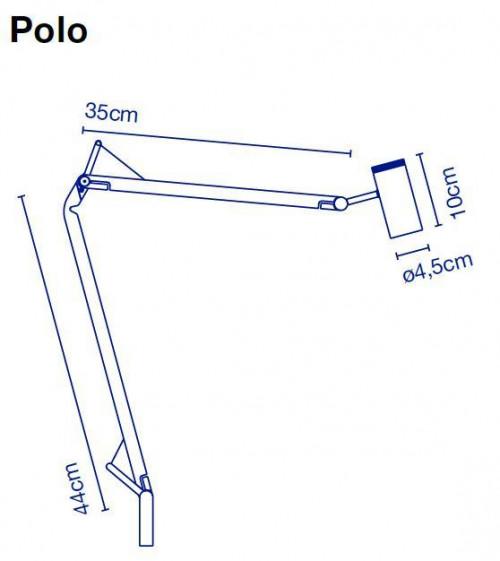 Marset Polo Wall Leuchtenkörper Grafik