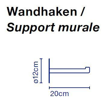 Marset Santorini Wandhalterung für Steckerzuleitung-Version Grafik