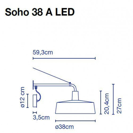 Marset Soho 38 A LED Grafik