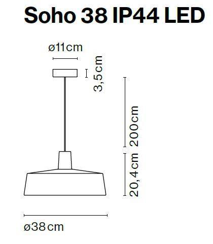 Marset Soho 38 IP44 LED Grafik