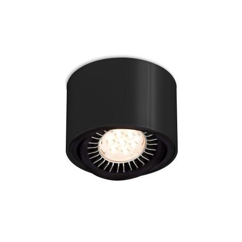 Mawa 111er rund LED, schaltbar schwarz