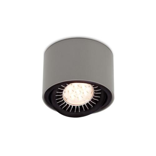 Mawa 111er rund LED, schaltbar grau-metallic