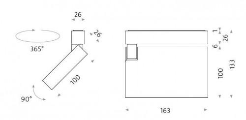 Mawa Flat Box Aufbaustrahler LED fbl-21 Grafik