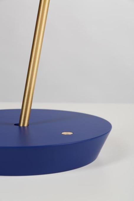 Mawa Giro New Leuchtenfuß in Blau mit Tastdimmer