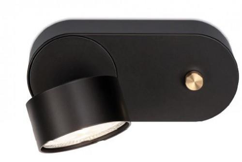 Mawa Wittenberg 4.0 Wandleuchte LED dim to warm Version 2, schwarz mit schwarzem Leuchtenkopf