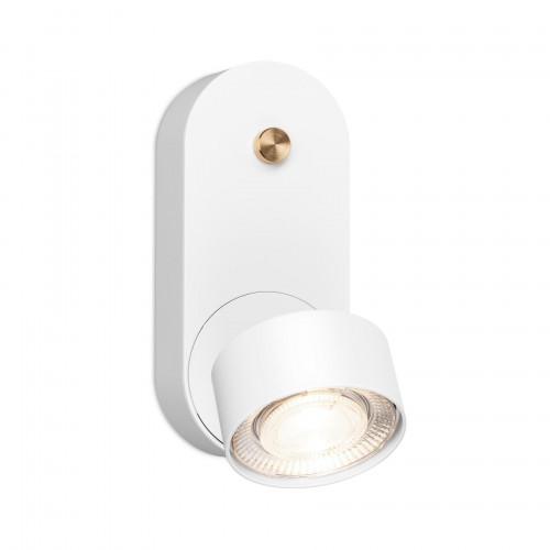 Mawa Wittenberg 4.0 Wandleuchte LED dim to warm Version 1, weiß mit weißem Leuchtenkopf