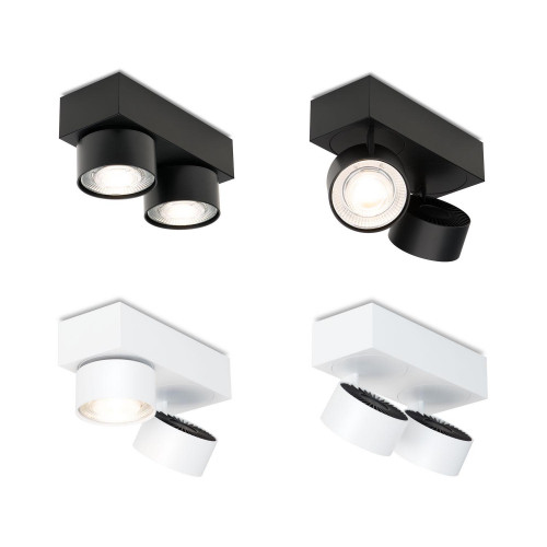 Mawa Wittenberg 4.0 Deckenleuchte 2-flammig LED schwarz und weiß