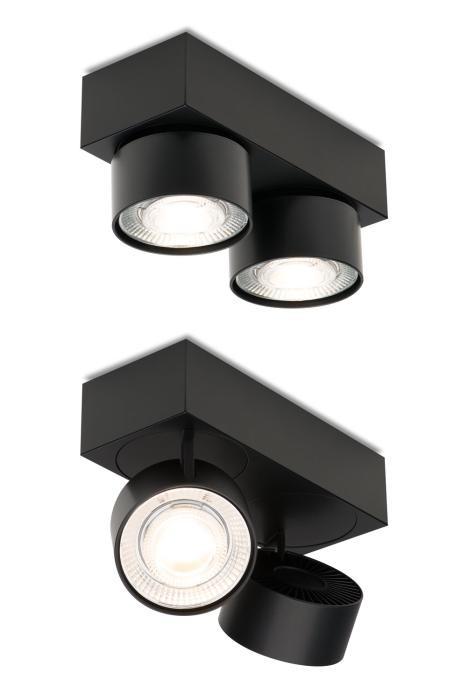 Mawa Wittenberg 4.0 Deckenleuchte 2-flammig LED schwarz