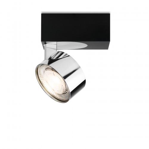 Mawa Wittenberg 4.0 Deckenleuchte asymmetrisch LED Version 3, schwarz mit Leuchtenkopf Chrom