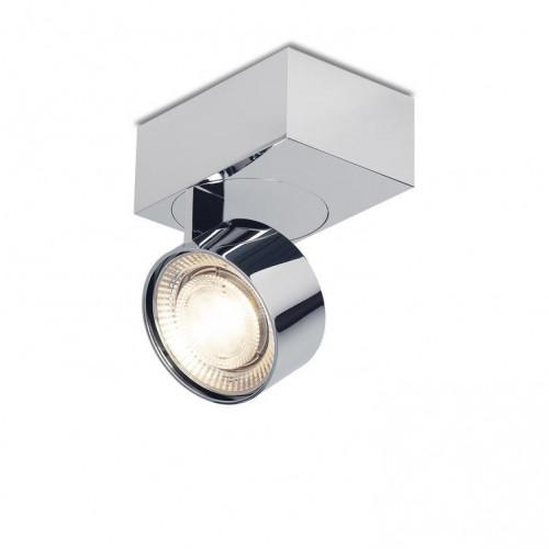 Mawa Wittenberg 4.0 Deckenleuchte asymmetrisch LED Version 6, Chrom mit Leuchtenkopf Chrom
