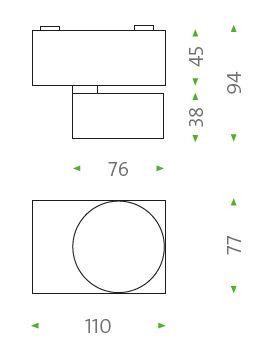Mawa Wittenberg 4.0 Deckenleuchte asymmetrisch LED Grafik