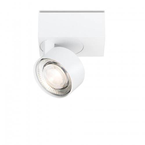 Mawa Wittenberg 4.0 Deckenleuchte asymmetrisch LED Version 1, weiß mit Leuchtenkopf weiß