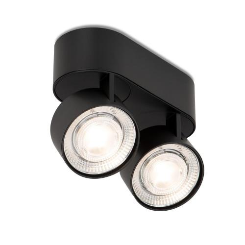 Mawa Wittenberg 4.0 Deckenleuchte oval 2-flammig LED schwarz