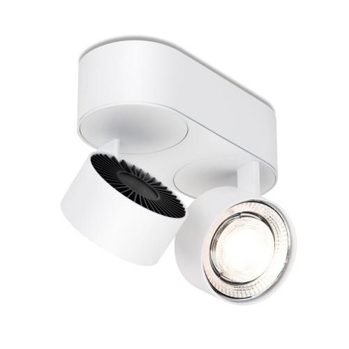 Mawa Wittenberg 4.0 Deckenleuchte oval 2-flammig LED weiß
