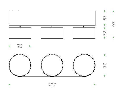 Mawa Wittenberg 4.0 Deckenleuchte oval 3-flammig LED Grafik