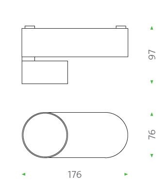 Mawa Wittenberg 4.0 Deckenleuchte oval LED Grafik