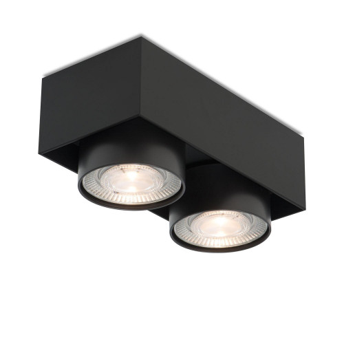 Mawa Wittenberg 4.0 Deckenleuchte halbbündig 2-flammig LED schwarz